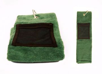 Golftowel with pouch